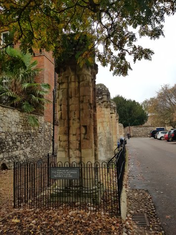 Remains of the monastic infirmary 1179-1200 - repaired AD 1896