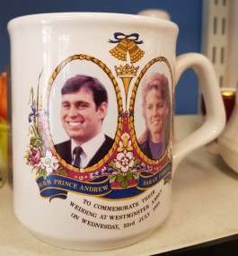 Commemorative Mug for the marriage of Duke and Duchess of York, 1986