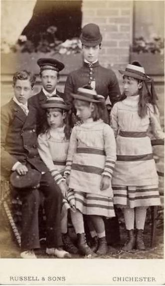 Alexandra, the Princess of Wales, and her children
