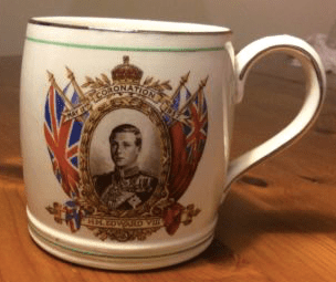 Mug commemorating the coronation of King Edward VIII in May 1937 - except that the coronation never took place, King Edward VIII abdicated in December 1936 (Picture: eBay)