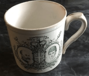 Mug commemorating the coronation of King Edward VII and Queen Alexandra in June 1902 - except that the coronation had to be postponed as the King was ill and did not take place until August (Picture: eBay)