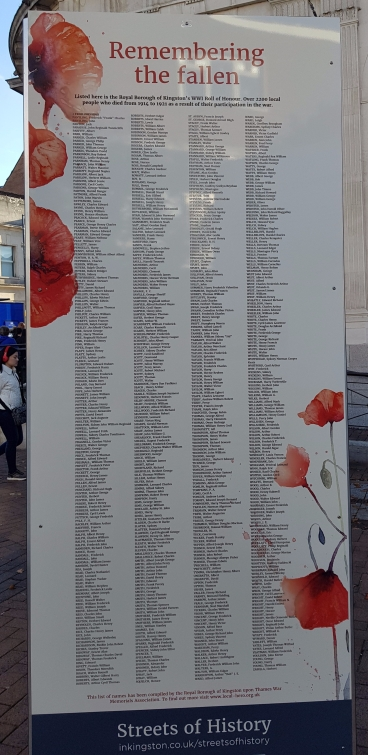 World War One Centenary Commemorations, Kingston Upon Thames