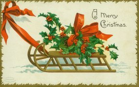 Christmas card dated 1907