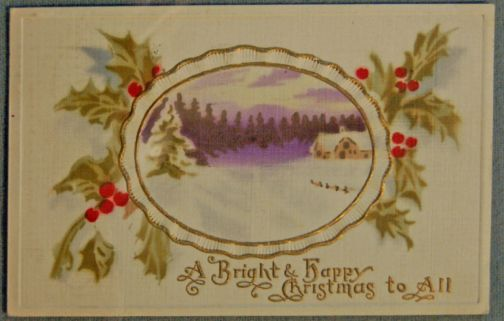 A Christmas card dated to 1900