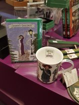 Suffragette Christmas cards and Votes for Women mug