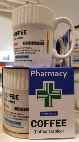 For the pharmacy professional (and historian) because coffee is always important (£10.00)