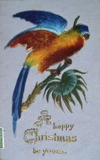 New Zealand Christmas postcard circa 1905 - 1910