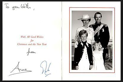 Princess Anne and Captain Mark Phillips with their children Peter and Zara.
