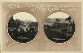 Christmas Card from Queensland, Australia, 1910