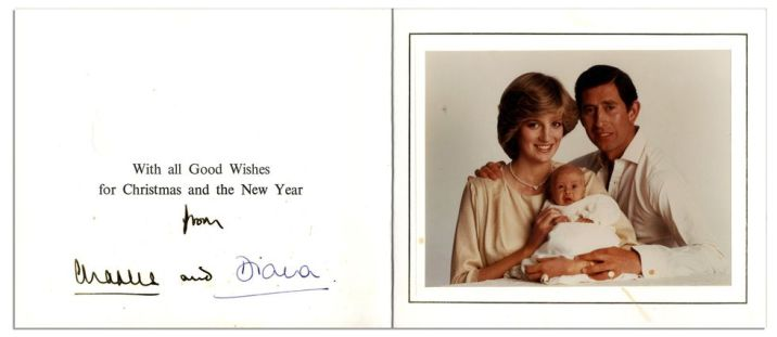 The Prince and Princess of Wales' Christmas card of 1982