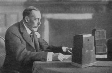 King George V broadcasting to the nation