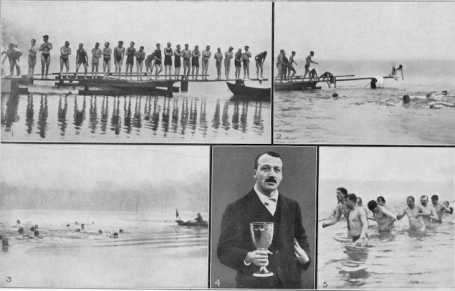 Serpentine Lake, Hyde Park, London. Images from the 1914 cup, with 1913 winner G Gyton. (Photo: Londonist.com)