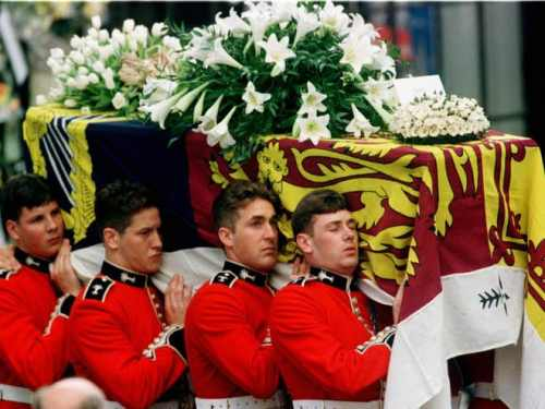 Diana's coffin