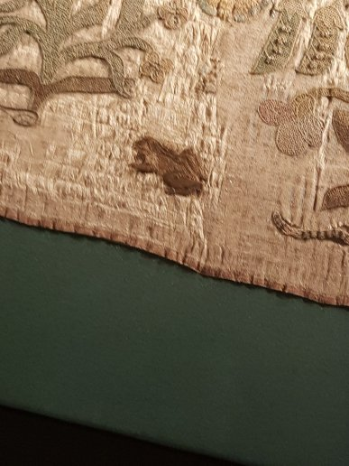 The Bacton Altar Cloth, a toad