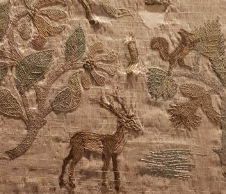 The Bacton Altar Cloth, stag and squirrel
