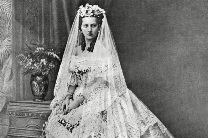 Alexandra, Princess of Wales, on her wedding day